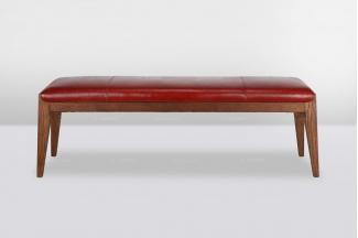 高端品牌简欧实木床尾凳