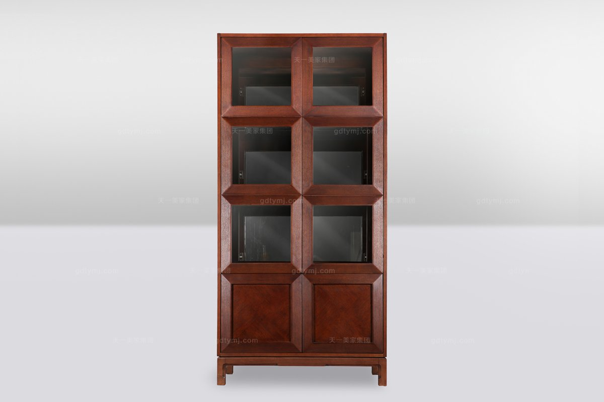 高端品牌简欧实木装饰酒柜
