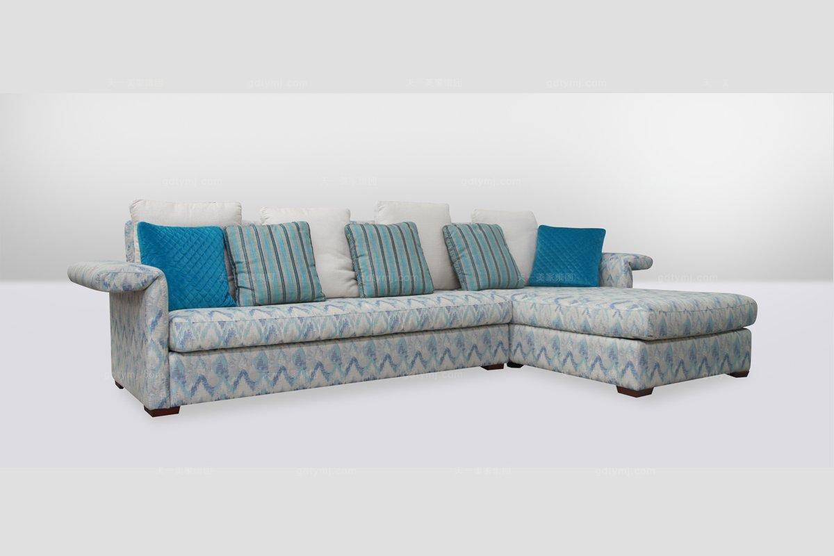 高端时尚简欧转角布艺沙发