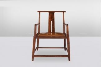 高端品牌简欧中式实木休闲椅