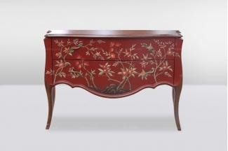 高端时尚简欧实木彩绘装饰柜