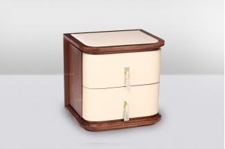 高端时尚简欧皮木结合床头柜