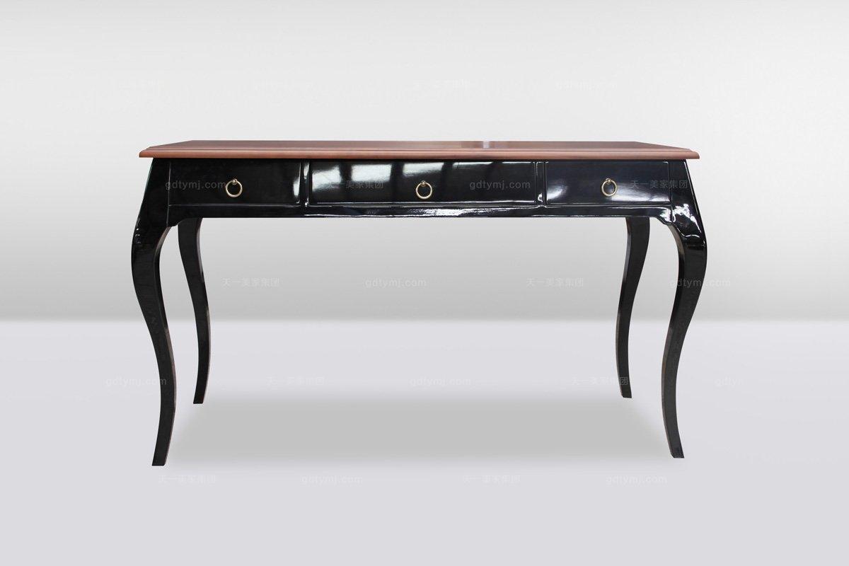 高端时尚简欧黑亮光书桌