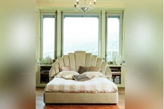 Pigoli 皮沟里简约扇形床头卧室软床系列