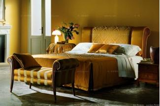 成套卧室家具Pigoli 皮沟里简约黄色布艺软床