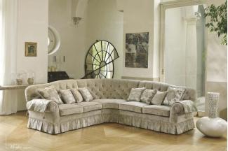 Pigoli 皮沟里花色布艺实木框架转角沙发客厅系列