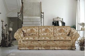 Pigoli 皮沟里花色布艺实木框架三位沙发系列