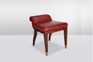 高端时尚简欧红色妆凳