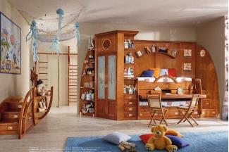 Caroti 卡若缇实木框架木色卧室系列