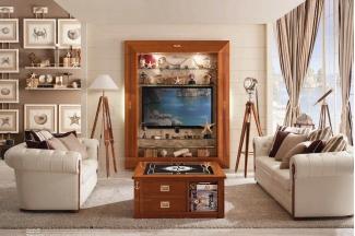 Caroti 卡若缇实木框架皮质白色沙发客厅系列