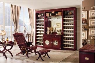 Caroti 卡若缇实木框架皮质休闲椅品酒室系列