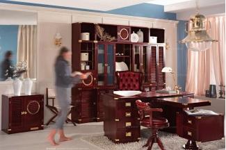 Caroti 卡若缇实木框架黑色皮质书房系列