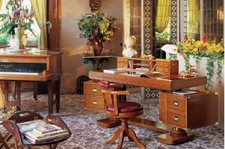 Caroti 卡若缇实木框架皮质书椅+浅色书房系列
