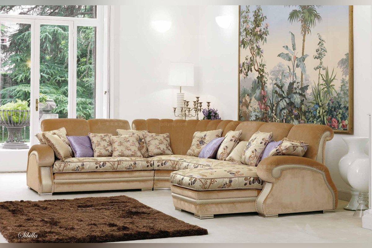 垫实木转角沙发客厅