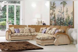 Pigoli 皮沟里素色布艺+花布坐垫实木转角沙发客厅系列