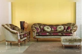 Pigoli 皮沟里素色+花型布艺实木转角沙发客厅系列