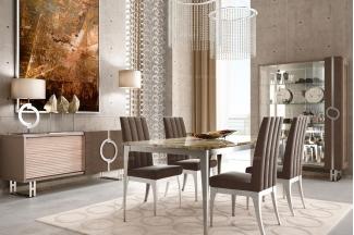 Caroti 卡若缇实木框架灰色餐厅系列