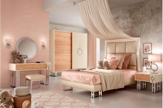 Caroti 卡若缇实木框架米黄色卧室系列
