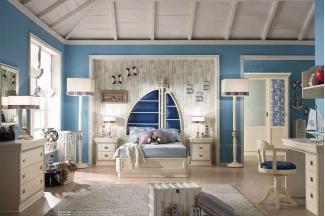 Caroti 卡若缇实木框架帆型床卧室系列
