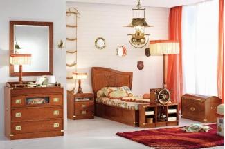 Caroti 卡若缇实木框架露木色卧室系列