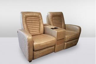 高端品牌简欧真皮别墅会所多功能二位沙发