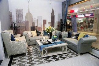 高端品牌美式风格别墅会所布艺沙发组合