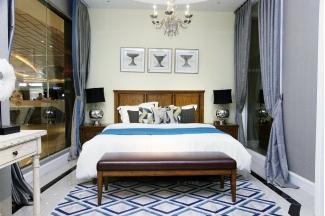 高端品牌美式风格实木双人床