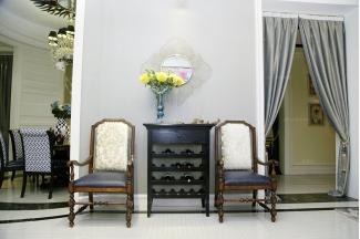 高端品牌美式休闲椅配装饰柜