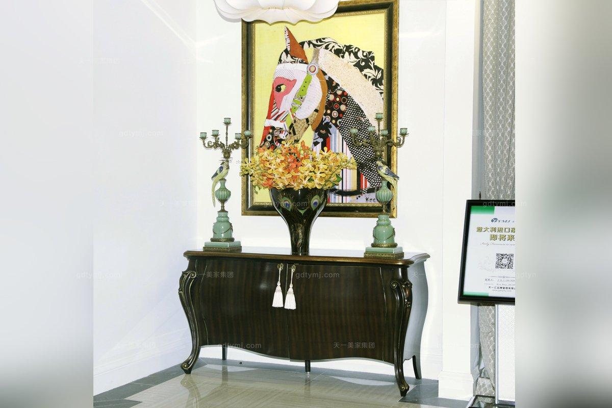 高端品牌美式实木别墅会所装饰柜_别墅家具
