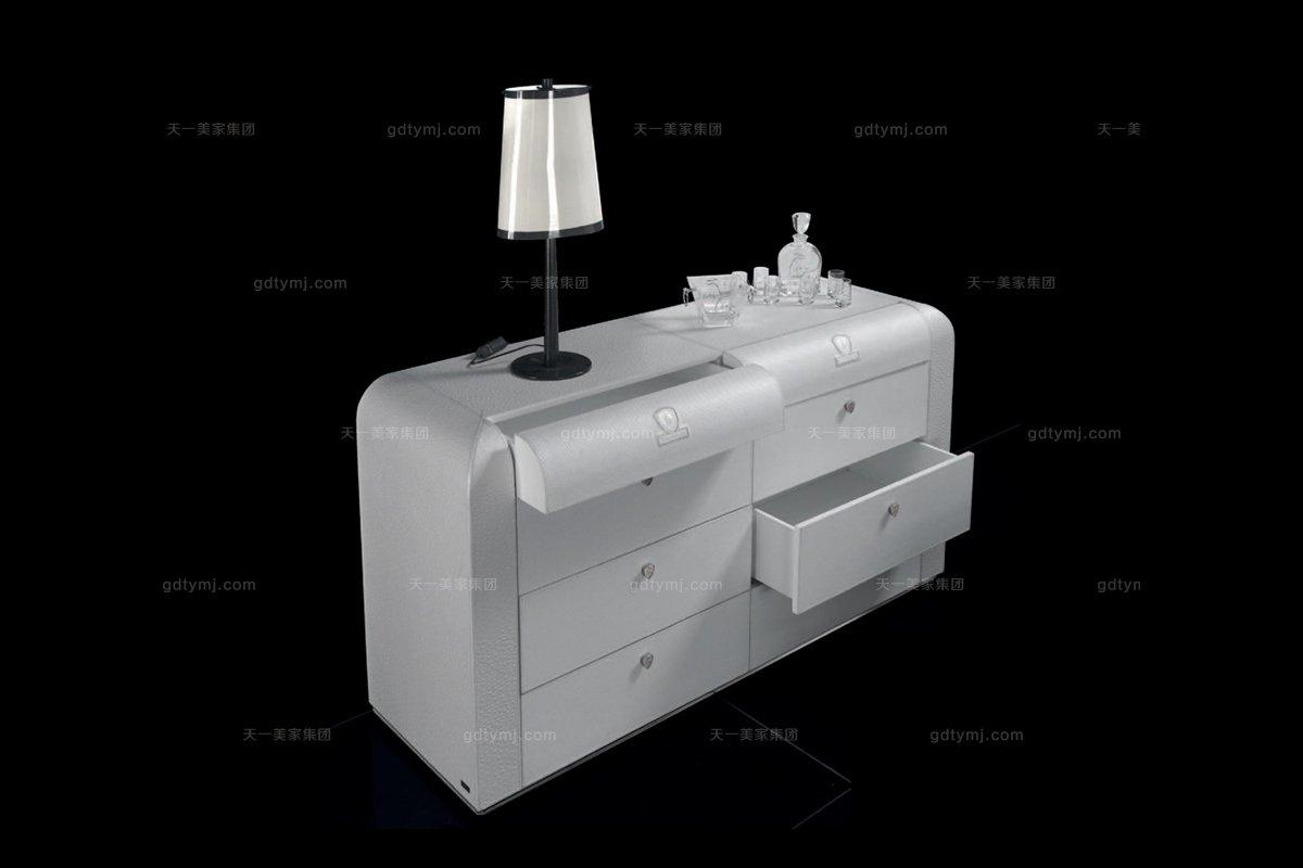 高端品牌现代风格兰博基尼系列白色四斗柜