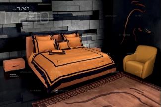 高端时尚现代意大利进口兰博基尼系列橙色双人床