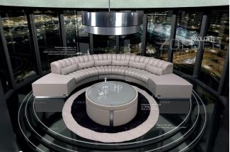 高端品牌现代意大利进口兰博基尼系列弧开沙发