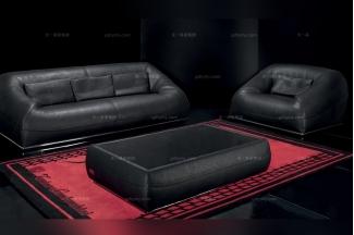 高端品牌现代意大利进口兰博基尼系列磨砂皮沙发组合