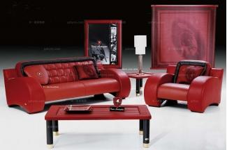 高端品牌现代意大利进口兰博基尼系列红色沙发