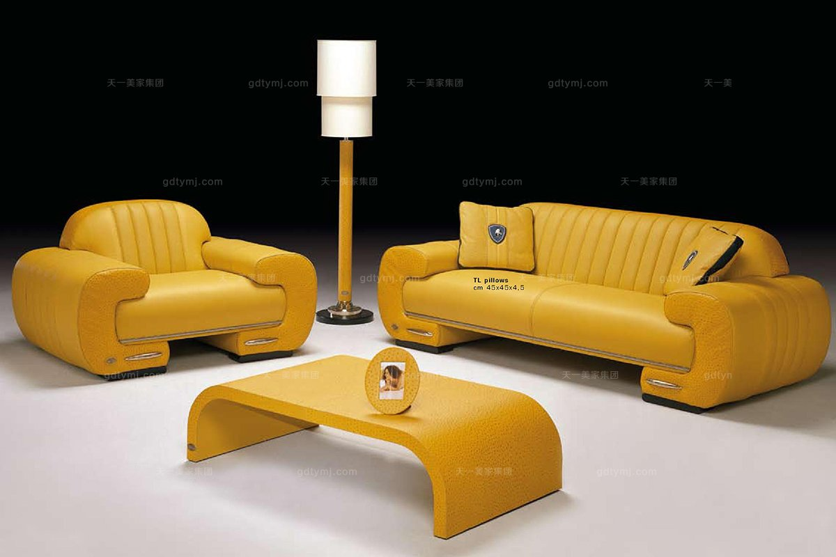 高端时尚现代意大利进口兰博基尼系列元宝形沙发组合