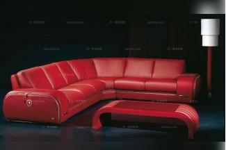 高端时尚现代意大利进口兰博基尼系列红色转角沙发
