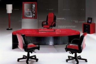高端品牌现代意大利进口兰博基尼系列红色班台