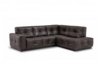 高端品牌现代必发88客户端进口棕色转角沙发