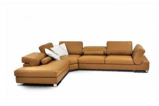 高端品牌现代意大利进口黄色转角沙发