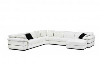 高端时尚现代意大利进口白色转角沙发