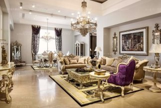 长沙万达广场-奢华新古典风整体家具软装工程案例