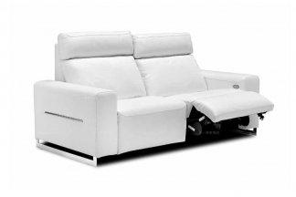 高端时尚现代意大利进口白色休闲舒适型二人沙发