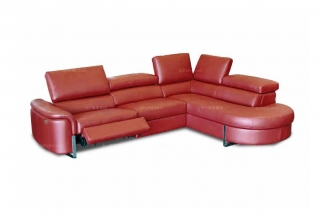 高端时尚现代意大利进口别墅会所红色转角沙发