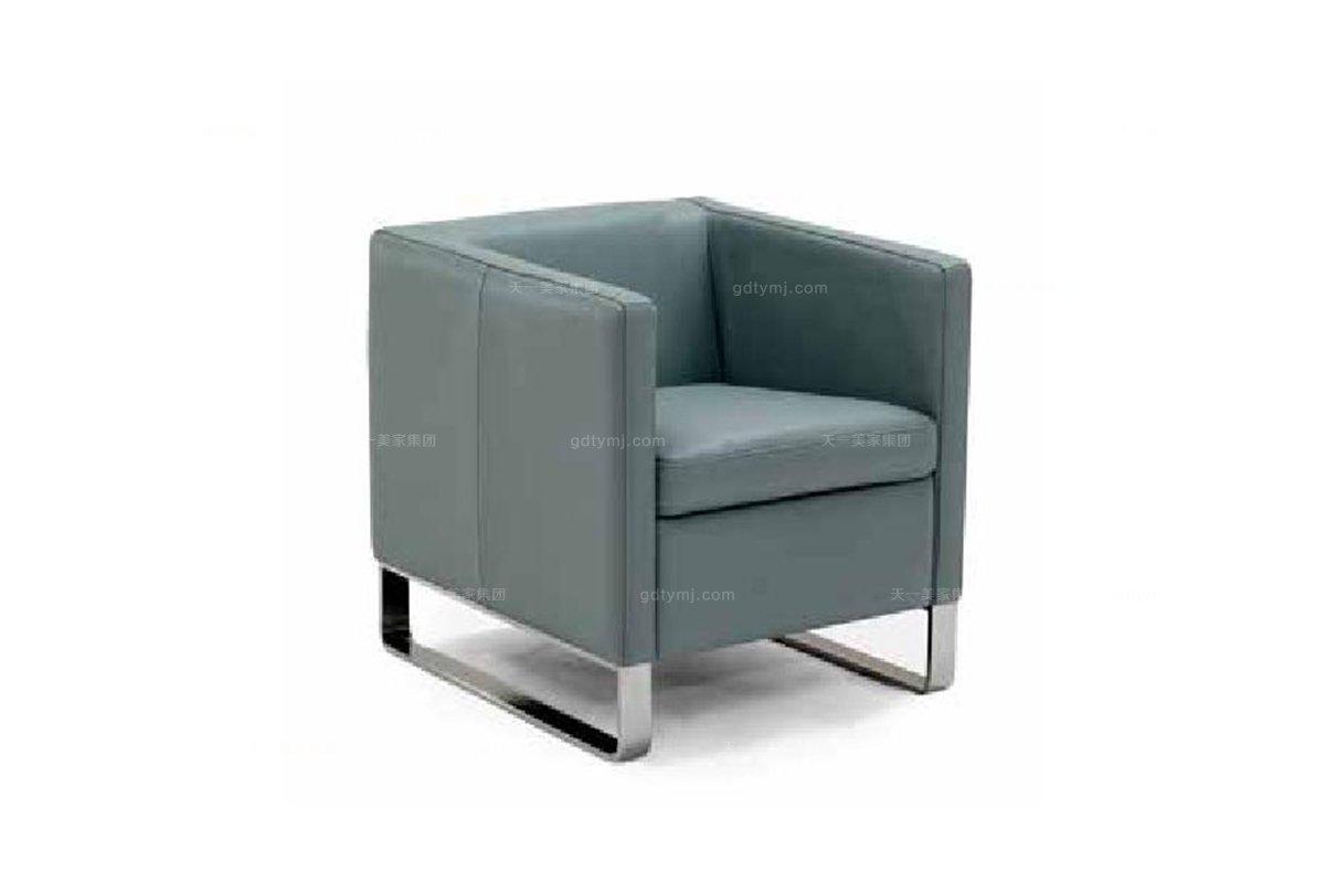 高端品牌现代意大利进口休闲单人沙发