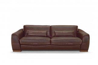 高端品牌现代意大利进口棕色双人沙发