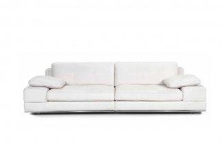 高端品牌现代意大利进口白色休闲沙发