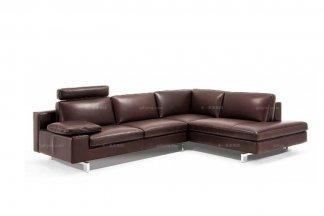 高端时尚现代意大利进口深色转角沙发