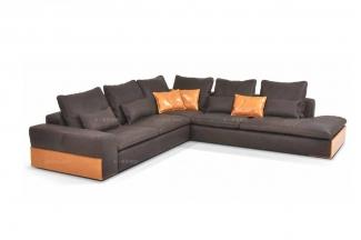 高端时尚现代意大利进口拼色转角沙发