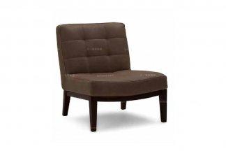 高端品牌现代意大利进口深咖啡色布艺休闲椅