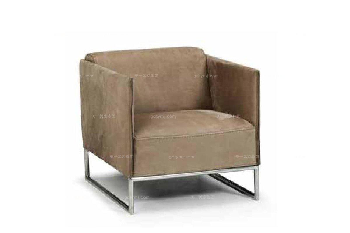 高端品牌现代意大利进口布艺休闲椅